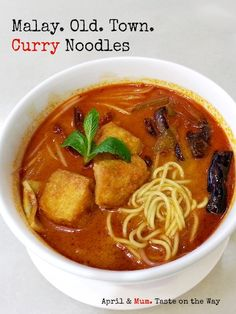 Old Town Malay #Curry Noodles (Laksa) | excitingly flavored comfort for all seasons  #Asian_recipe