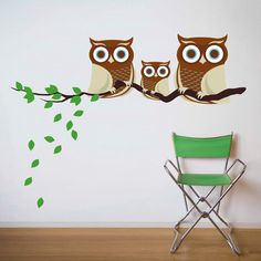 Family of Owls - Fabric Wall Decals