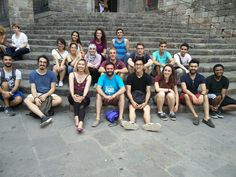 Barcelona - Spain: Group picture of the IAESTE interns in the Gothic quarter of Barcelona. Konstantinos was one of them and he surely enjoyed his time in the city :) Group Pictures, Barcelona Spain, Gothic, Greek, Wrestling, City, Lucha Libre, Goth, Group Shots
