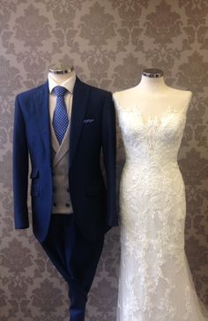 Royal Mohair Lounge suit paired with Double Breasted Waistcoat and polka dot…