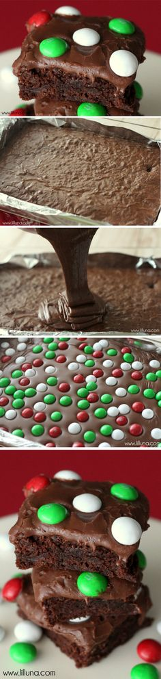 Brownie de chocolate y m&ms