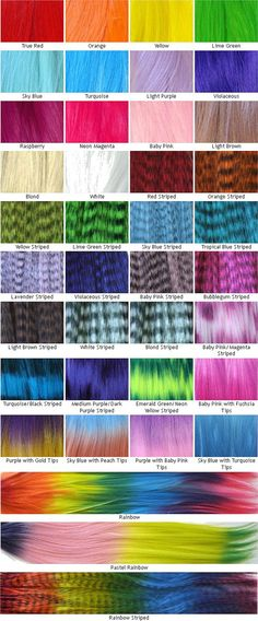 Rainbow Hair Extensions - Prebonded I-Tip - Pack of 10 - You Choose Colors on Etsy, $9.95