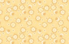 Mosaic Sun, Moon, and Gears ©2012 by Jane Walker fabric by artbyjanewalker on Spoonflower - custom fabric