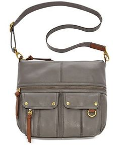 Fossil Morgan Leather Top Zip Crossbody - Fossil - Handbags & Accessories - Macy's