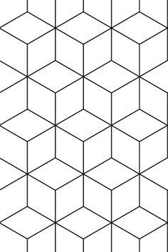 zilverblauw | wallpaper | hexagonal-black | zilverblauw.nl #zilverblauw