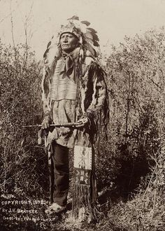 Sioux Man in full War Dress by Wisconsin Historical Images, via Flickr