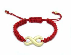 Infinity Red Braided String Bracelet - Eternity AMEX Jewelry. $7.99. Length of Logo: 23mm. Infinity / Eternity Logo. 100% Lead Free. Save 48%!
