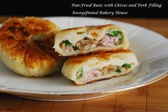 Pan-Fried Buns with Chives and Pork Filling | Awayofmind Bakery House | Bloglovin'
