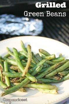 How to grill fresh grean beans. The perfect side dish to any grilling dinner.