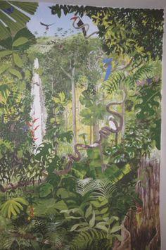 Painting Wallpaper, Wall Wallpaper, Forest Painting, Jungles, Room Themes, Wall Murals, Walls, Sculpture, Sculptures