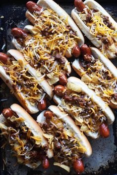 Frito Pie Hot Dogs | Honestly YUM