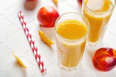 Juice from nectarines by Mellisandra on @creativemarket