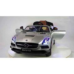 . Novedad. Precioso deportivo mercedes Benz sls 12 v, color plata metalizado en www.roalbababy.es. Volante electr�nico.direcci�n asistida SRS se bloquea en caso de conducci�n. Mando 2.4G,Tres velocidades, leds en ruedas, suspensi�n cuatro ruedas, apertura