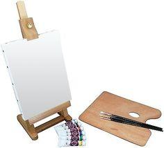 Art Advantage Mini Easel Oil Paint Set - http://crafts.goshoppins.com/art-supplies/art-advantage-mini-easel-oil-paint-set/