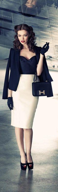 un look élégant avec un jupe crayon que vous pouvez porter pour n'importe quelle occasion