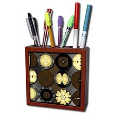 Wooden Circles with Light Ceramic Pen Holder Jos Fauxtographee Abstract Buy Tile, Abstract Pictures, Pen Holders, Art Supplies, Circles, Ceramics, Ceramica, Pottery, Ceramic Art