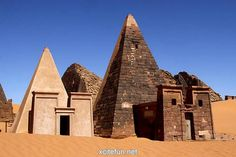"""The Nubian pyramids were constructed (roughly 220 of them) at three sites in modern day Sudan. Nubia was known to the Egyptians as Kush. During the Middle Kingdom, its principal town was Kerma, which lies just below the Third Cataract of the Nile River. During Egypt's New Kingdom, the empire period, Nubia was for the most part a province of Egypt, ruled by the """"King's Son of Kush"""""""