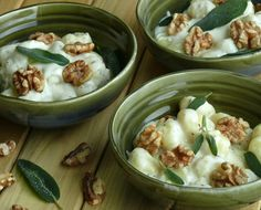 Creamy Gnoochi with Walnut and Sage classic flavors