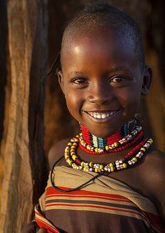 ˚Bashada Tribe Child, Dimeka, Omo Valley, Ethiopia