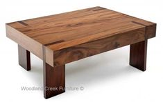 Thick Wood Coffee Table wtih Bronze Legs