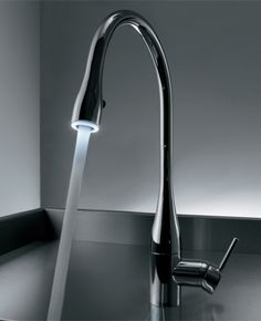 KWC Eve tap - the light is a great idea and makes washing up more fun (yes I am that lame haha)!