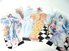 Sketches Of Vintage Fashionable Ladies Gift Tags Set by SiriusFun, $5.50