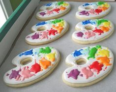 Palette cookies... I want to do this in cupcake form.