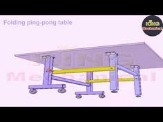 MECHANISCAL MECHANISM Folding ping pong table - YouTube