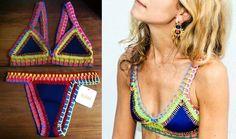 biquinis na moda com detalhes de croche - Pesquisa Google