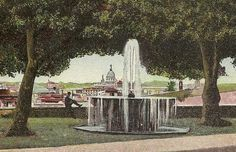 Antique ROME Postcard Fountain in the Park and by TheOldBarnDoor