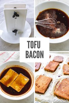 This Tofu Bacon recipe will make you think you're eating the real thing! All the flavor is mixed into a deliciously savory and sweet marinade that fills the tofu with the salty bacon taste! #tofubacon #vegetarianbacon #veganbacon Vegetarian Bacon, Vegetarian Casserole, Vegetarian Appetizers, Vegetarian Recipes, Tofu Recipes, Bacon Recipes, Delicious Vegan Recipes, Amazing Recipes, Free Recipes
