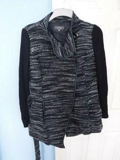 Grey Cardigan, Women Brands, Size 16, Leather Jacket, Jackets, Fashion, Gray Cardigan, Studded Leather Jacket, Down Jackets