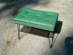 Mid Century Modern Patio Outdoor Bench With Hairpin Legs | Used Mid-Century Modern Furniture Auctions