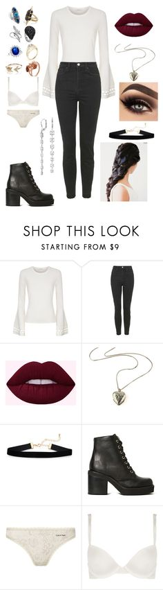 """Untitled #372"" by aaliyah-lampley-beck ❤ liked on Polyvore featuring Milly, Topshop, Jeffrey Campbell, Calvin Klein and Blue Nile"