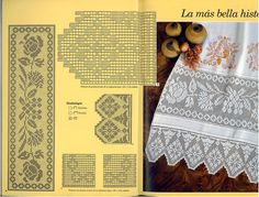 Irish lace, crochet, crochet patterns, clothing and decorations for the house, crocheted. Filet Crochet, Crochet Lace, Crochet Edgings, Hairpin Lace, Crochet Tablecloth, Lace Border, Filets, Irish Lace, Doilies