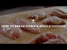 How to Break Down a Whole Chicken  | Tips & Techniques by All Things Barbecue - YouTube