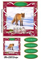 A Christmas gift card front 5 on Craftsuprint - View Now!