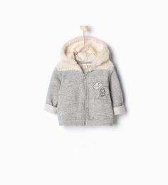 Image 1 of Fleece plush sweatshirt from Zara
