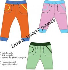These are CUTE!! Get the new Domi Sweat Pants Sewing Pattern (unisex) Sofilantjes