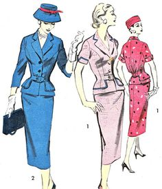 1950s Womens Suit Pattern Advance 8031 Two Piece by paneenjerez, $40.00
