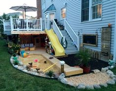 Best Sandbox Ideas for Kids! Here's a cool collection of unique and creative outdoor backyard sandbox ideas for children. DIY sandbox plans, easy hacks for a sandbox with cover, and kids sandbox ideas you can buy and build at home are included! Backyard Gazebo, Backyard Privacy, Backyard Playground, Backyard For Kids, Backyard Projects, Home Projects, Playground Ideas, Backyard House, Garden Kids