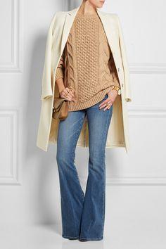 Agnona|Aran-knit cashmere sweater|NET-A-PORTER.COM