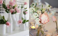 Vaso de garrafas decoradas
