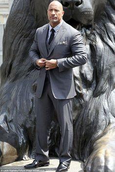 2014 Rock: Dwayne as he looks today, promoting his new movie Hercules in London earlier th...