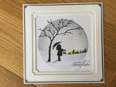 Cardio Cards, Card Io, Resin Art, Handmade Christmas, Silhouettes, Snowflakes, Stamping, Christmas Cards, Scrapbooking