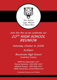 high school reunion invitations - Google Search