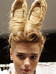 This is some shocking catwalk hair
