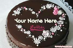 Best Chocolate Cake For Happy Birthday With Name Pear And Almond Cake, Almond Cakes, Sweet Birthday Cake, Happy Birthday, Birthday Wishes, Friends Birthday Cake, Special Birthday, Cake Name, Best Chocolate Cake