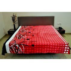 Valtellina Soft Square Design Single Bed Blanket #onlineshoppinghttp://goo.gl/cddICT