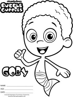 Printable Bubble Guppies Goby Coloring Pages Printable Coloring Pages For Kids